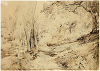 John Ruskin, The Road to Florence, 1845 RF1260 © Ruskin Foundation